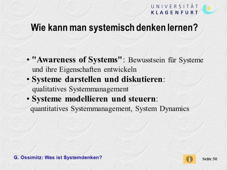 Wie kann man systemisch denken lernen