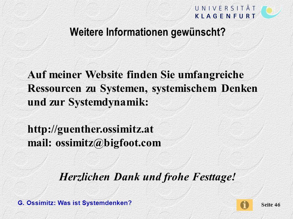Weitere Informationen gewünscht