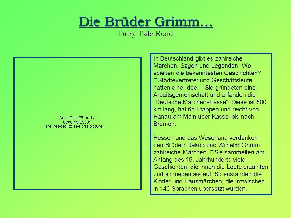 Die Brüder Grimm… Fairy Tale Road