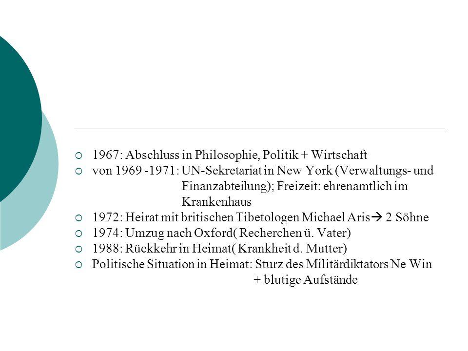 1967: Abschluss in Philosophie, Politik + Wirtschaft