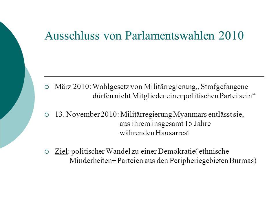 Ausschluss von Parlamentswahlen 2010