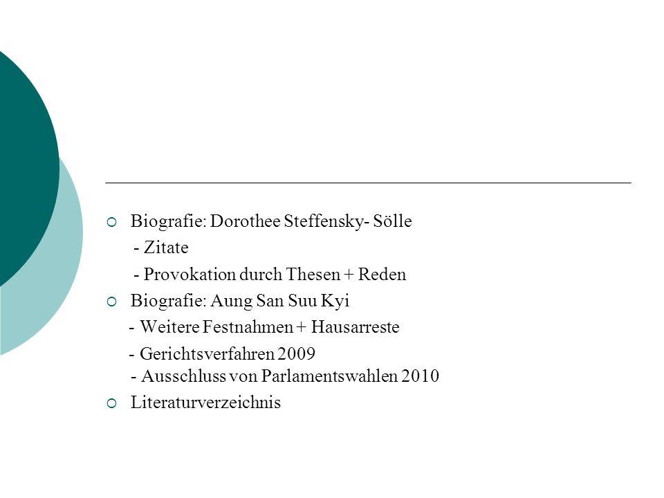 Biografie: Dorothee Steffensky- Sölle