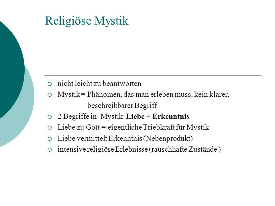 Religiöse Mystik nicht leicht zu beantworten