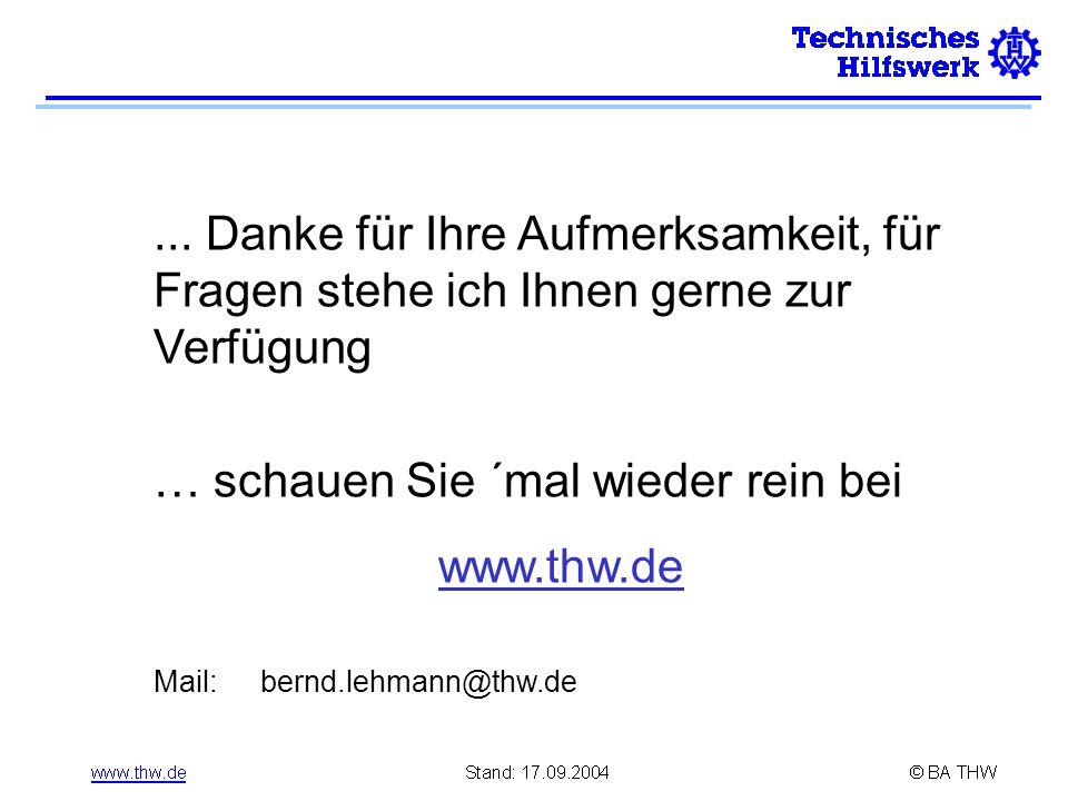 … schauen Sie ´mal wieder rein bei www.thw.de
