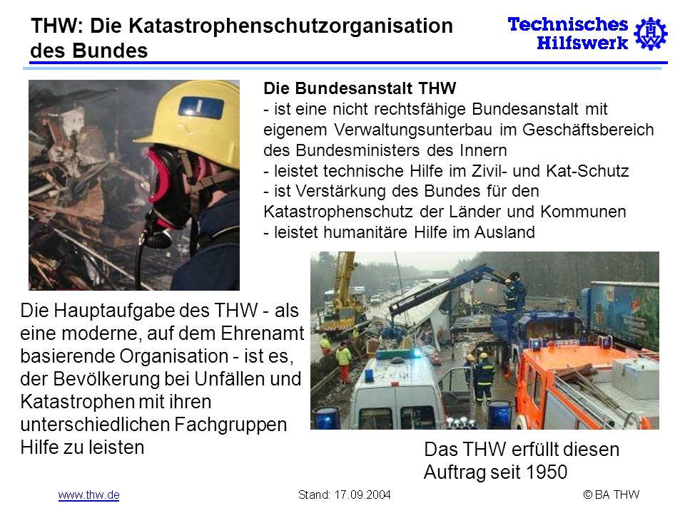 THW: Die Katastrophenschutzorganisation des Bundes