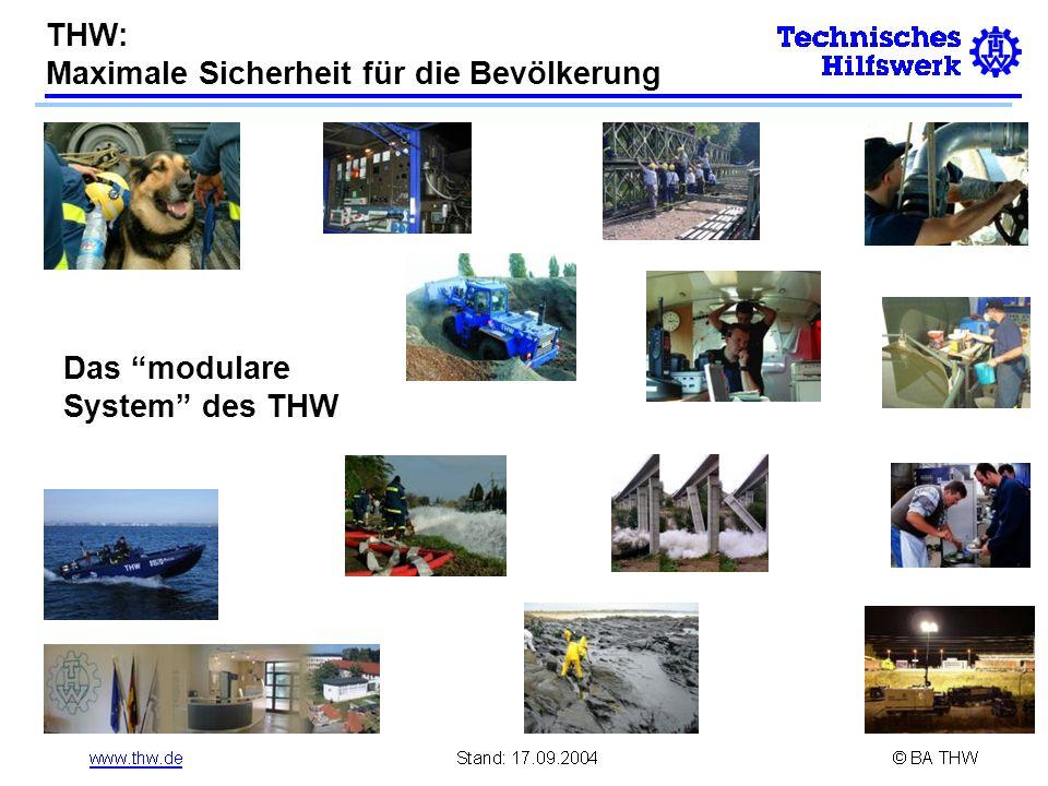 THW: Maximale Sicherheit für die Bevölkerung Das modulare System des THW