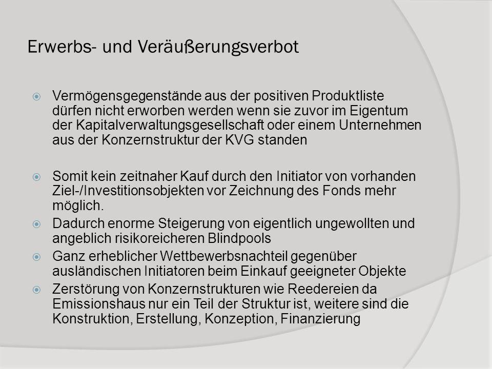 Erwerbs- und Veräußerungsverbot