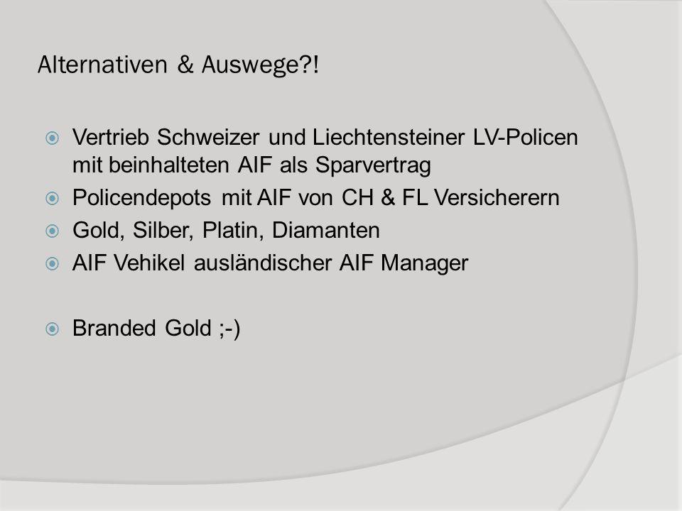 Alternativen & Auswege !