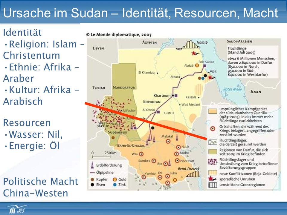 Ursache im Sudan – Identität, Resourcen, Macht