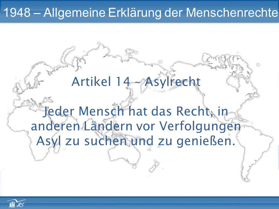 1948 – Allgemeine Erklärung der Menschenrechte