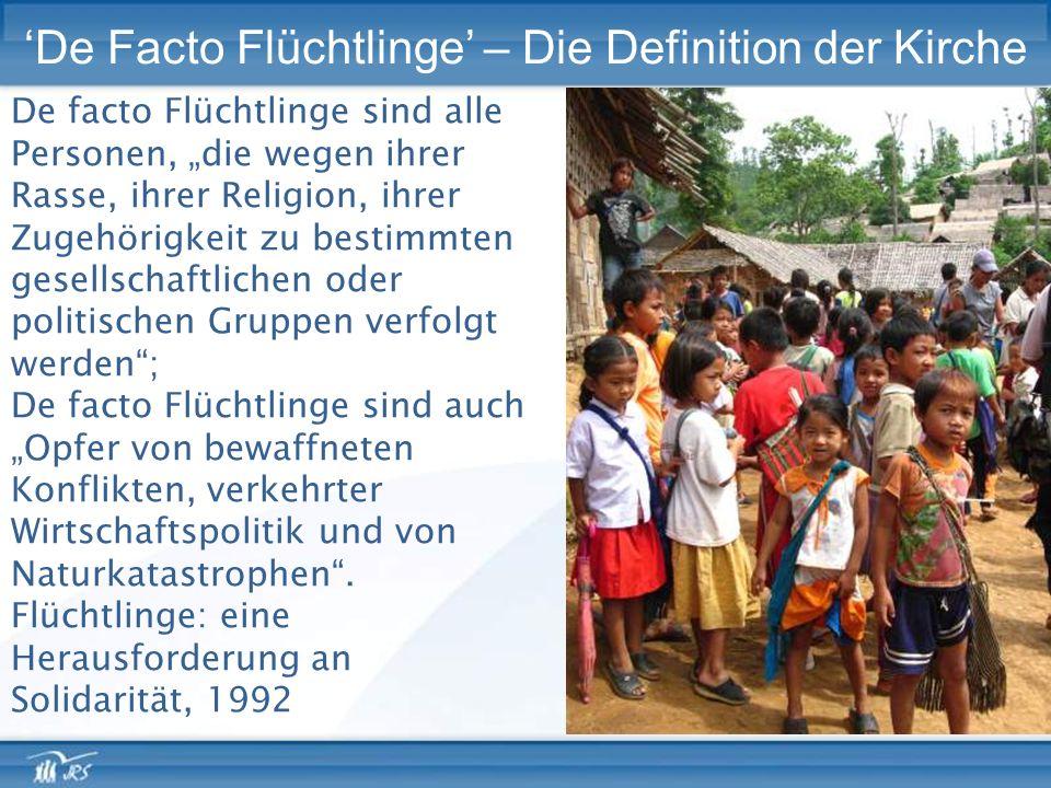 'De Facto Flüchtlinge' – Die Definition der Kirche