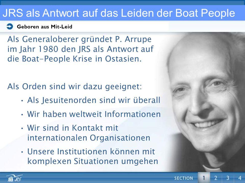 JRS als Antwort auf das Leiden der Boat People
