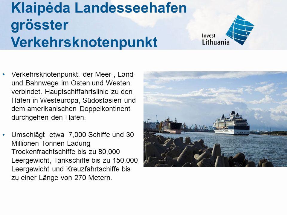 Klaipėda Landesseehafen grösster Verkehrsknotenpunkt