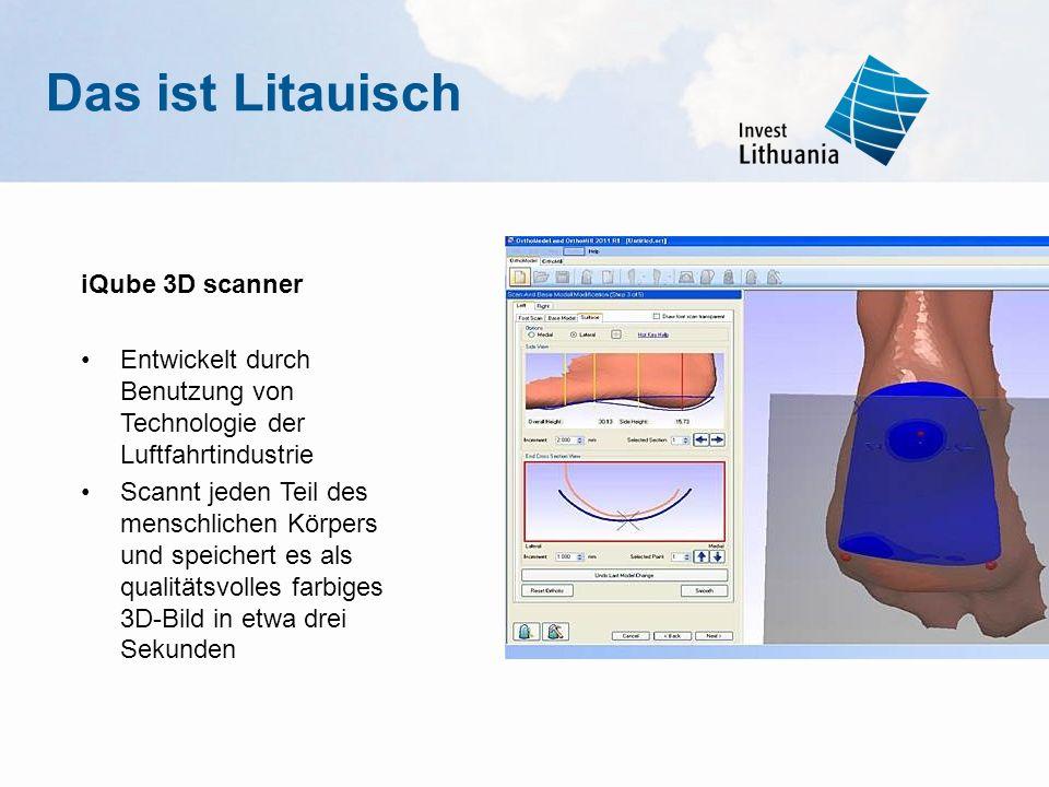 Das ist Litauisch iQube 3D scanner