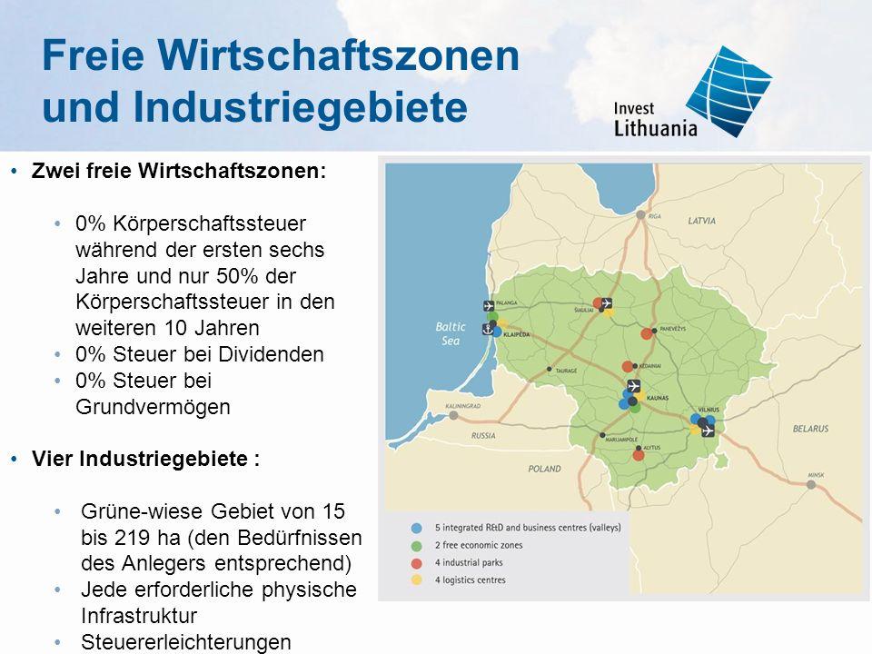 Freie Wirtschaftszonen und Industriegebiete