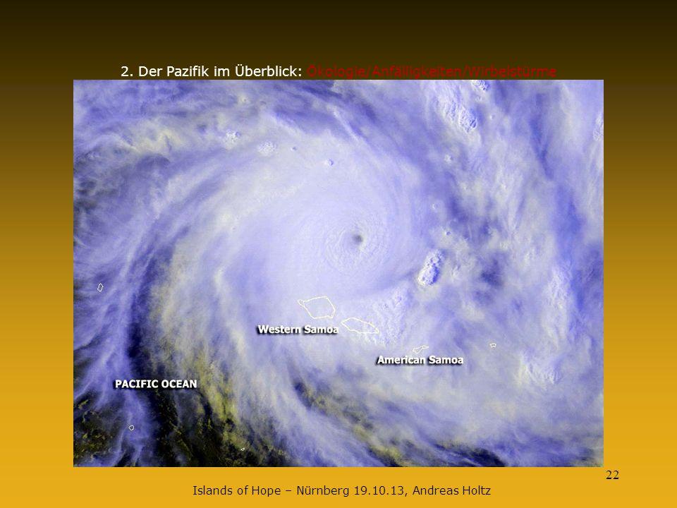 2. Der Pazifik im Überblick: Ökologie/Anfälligkeiten/Wirbelstürme