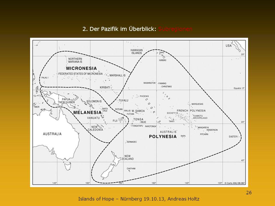 2. Der Pazifik im Überblick: Subregionen