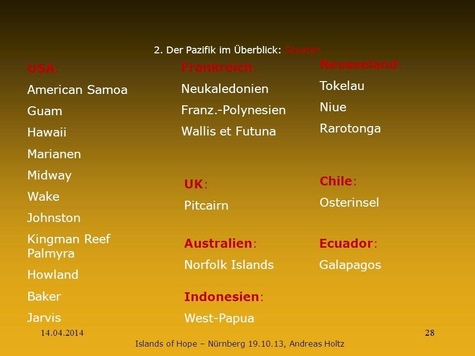 2. Der Pazifik im Überblick: Staaten