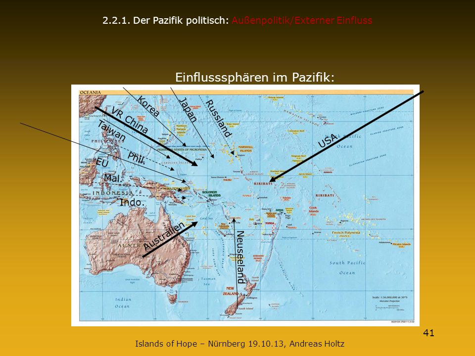 Einflusssphären im Pazifik: