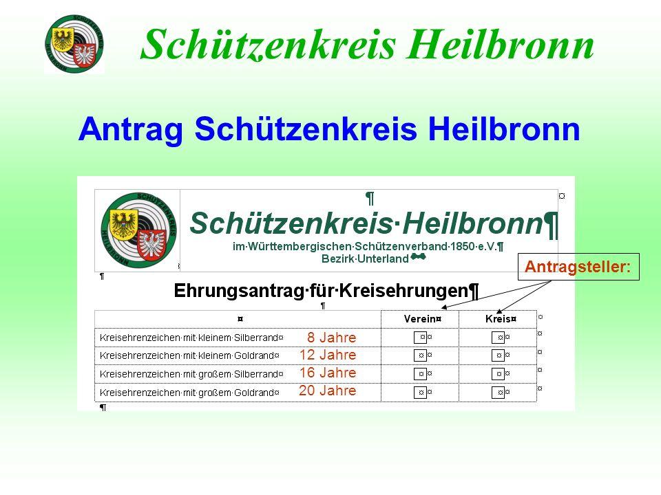 Antrag Schützenkreis Heilbronn