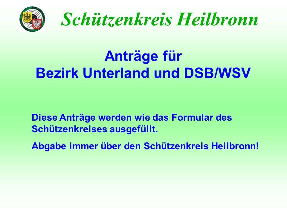Bezirk Unterland und DSB/WSV