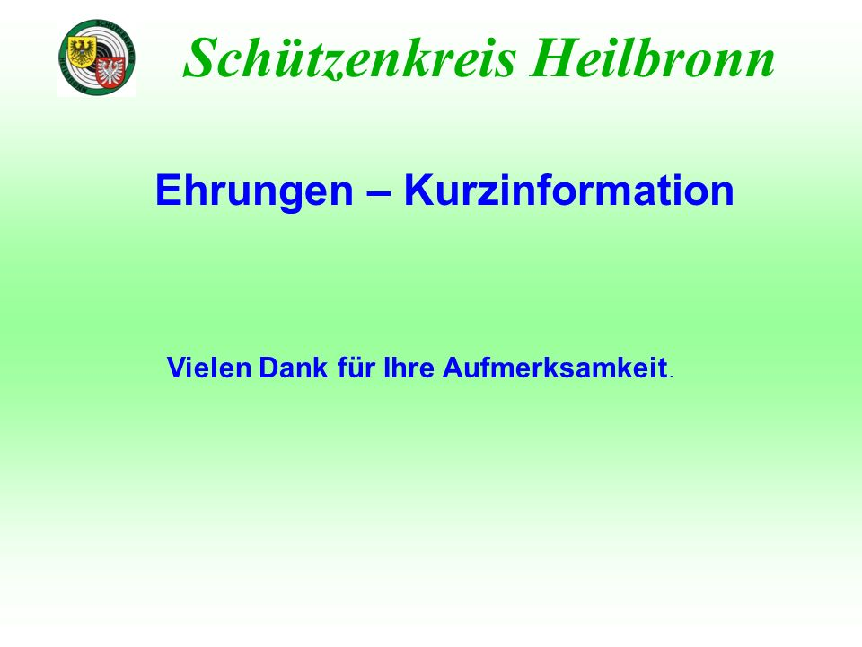 Ehrungen – Kurzinformation
