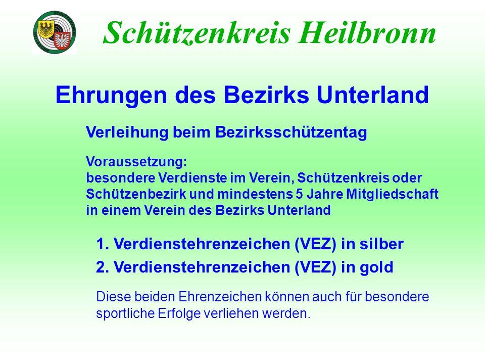 Ehrungen des Bezirks Unterland