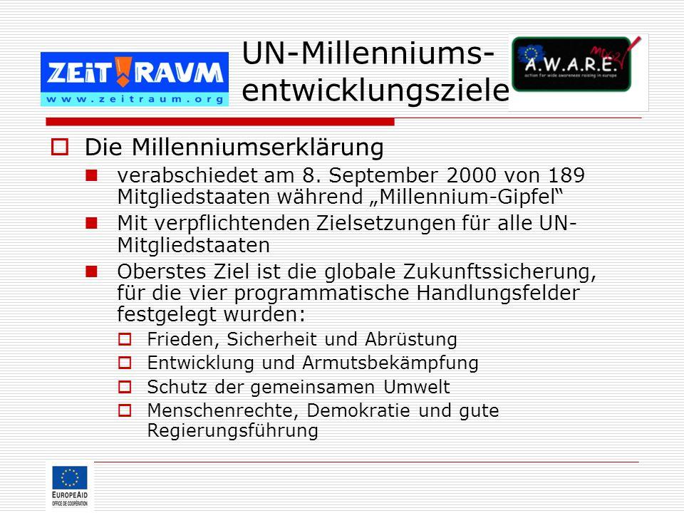 UN-Millenniums-entwicklungsziele