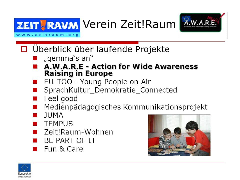 """Verein Zeit!Raum Überblick über laufende Projekte """"gemma's an"""