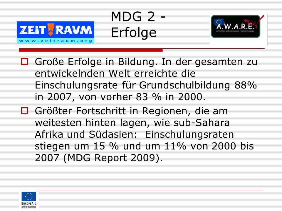MDG 2 - Erfolge