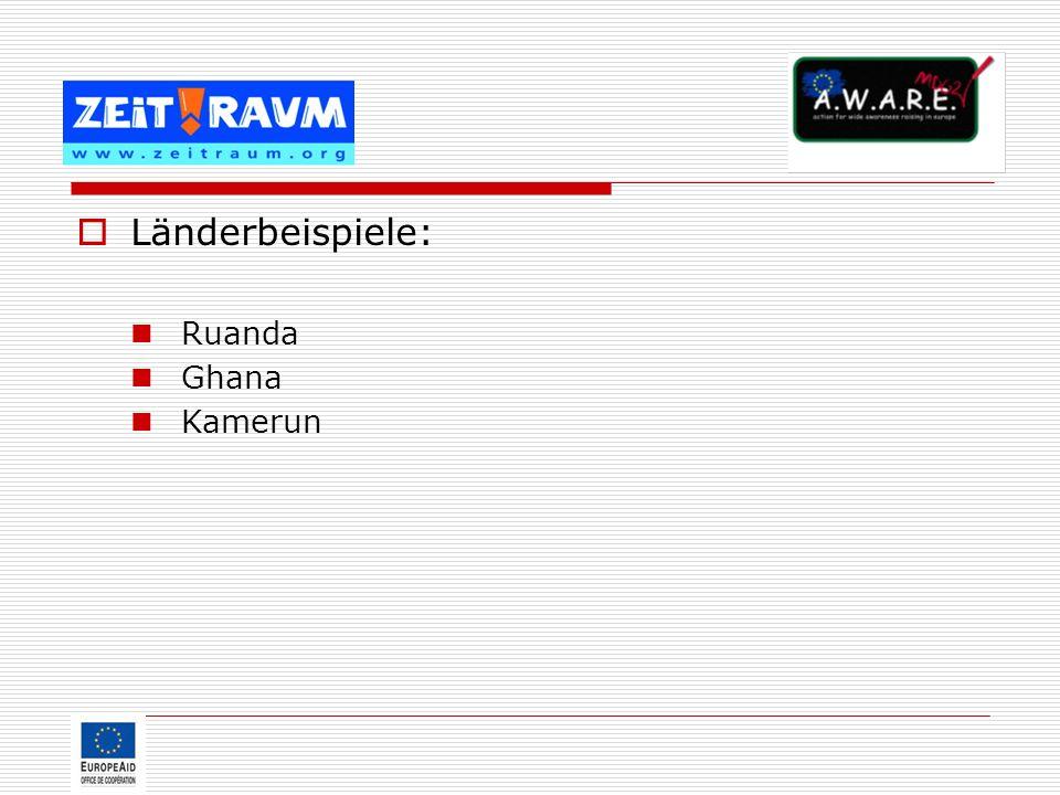 Länderbeispiele: Ruanda Ghana Kamerun