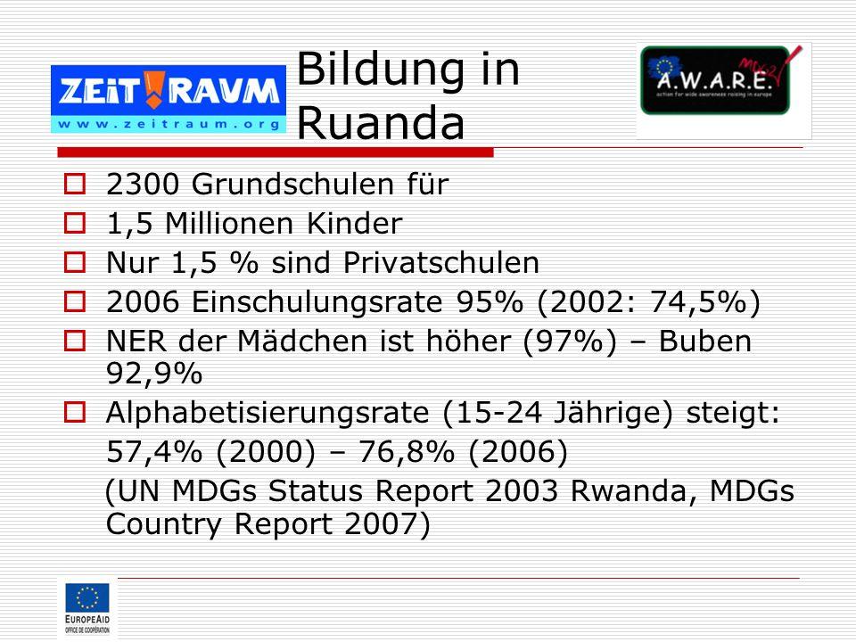Bildung in Ruanda 2300 Grundschulen für 1,5 Millionen Kinder