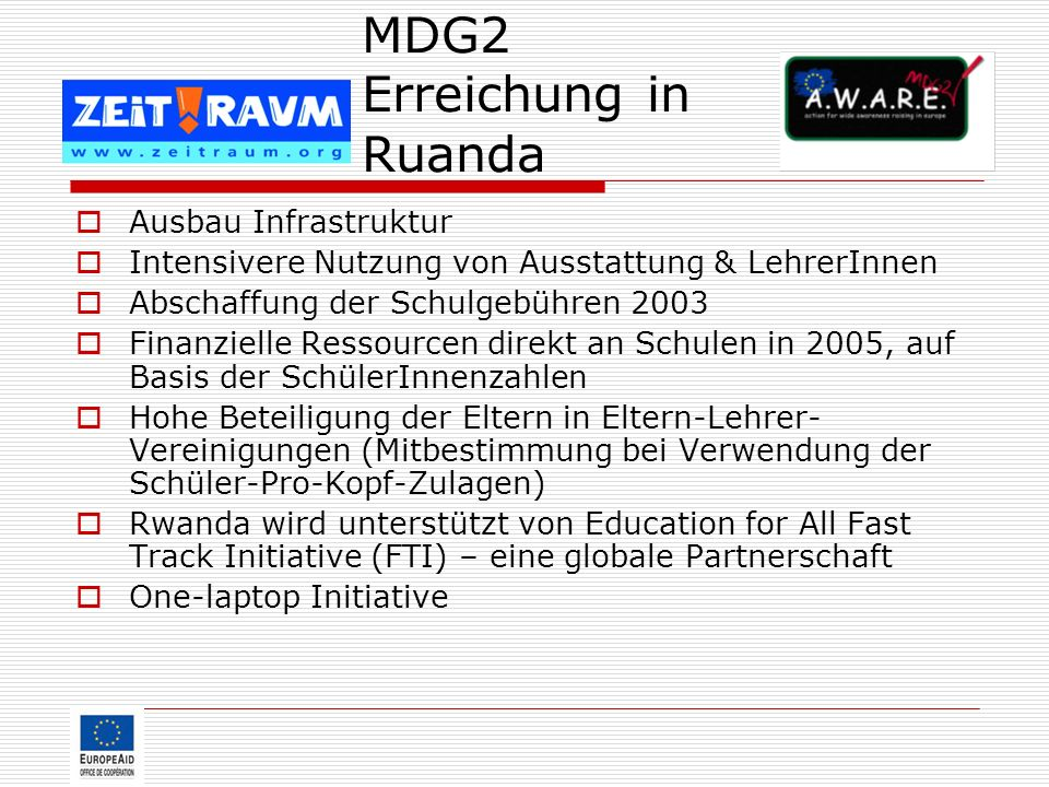 MDG2 Erreichung in Ruanda