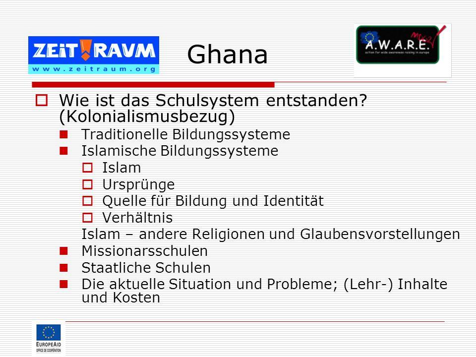 Ghana Wie ist das Schulsystem entstanden (Kolonialismusbezug)