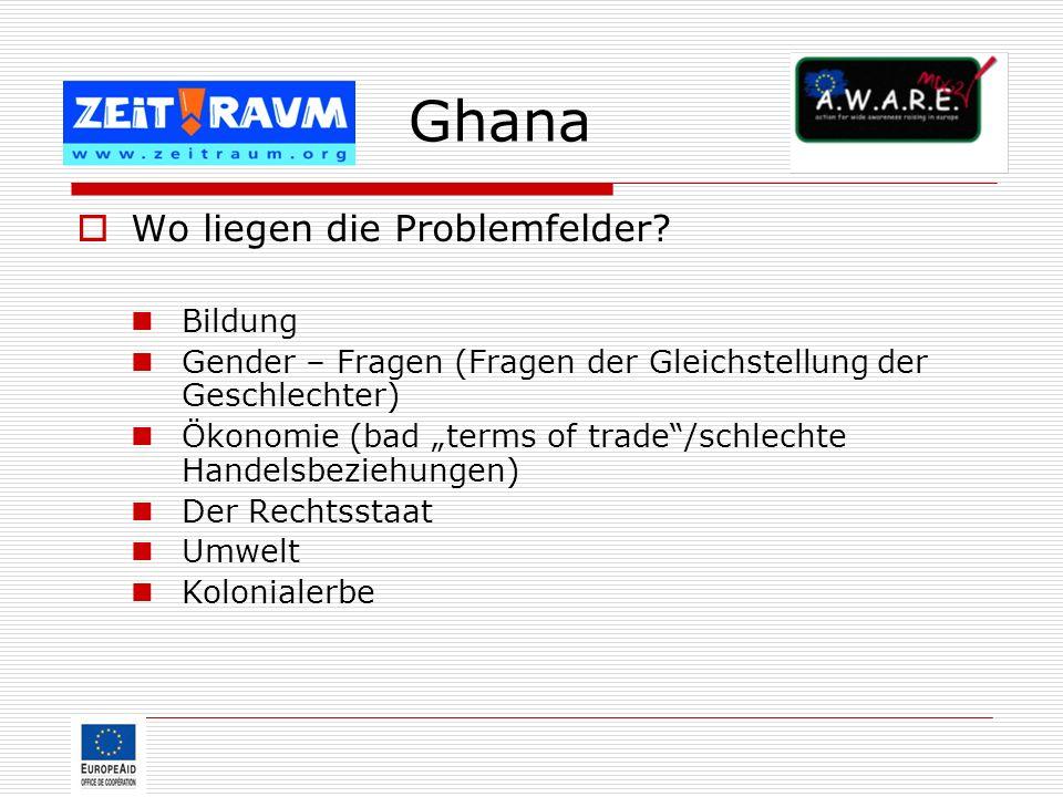 Ghana Wo liegen die Problemfelder Bildung
