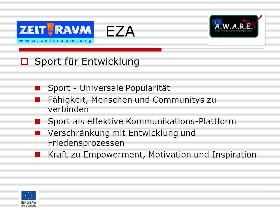 EZA Sport für Entwicklung Sport - Universale Popularität