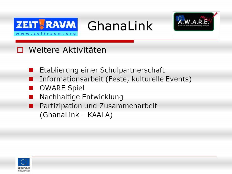 GhanaLink Weitere Aktivitäten Etablierung einer Schulpartnerschaft