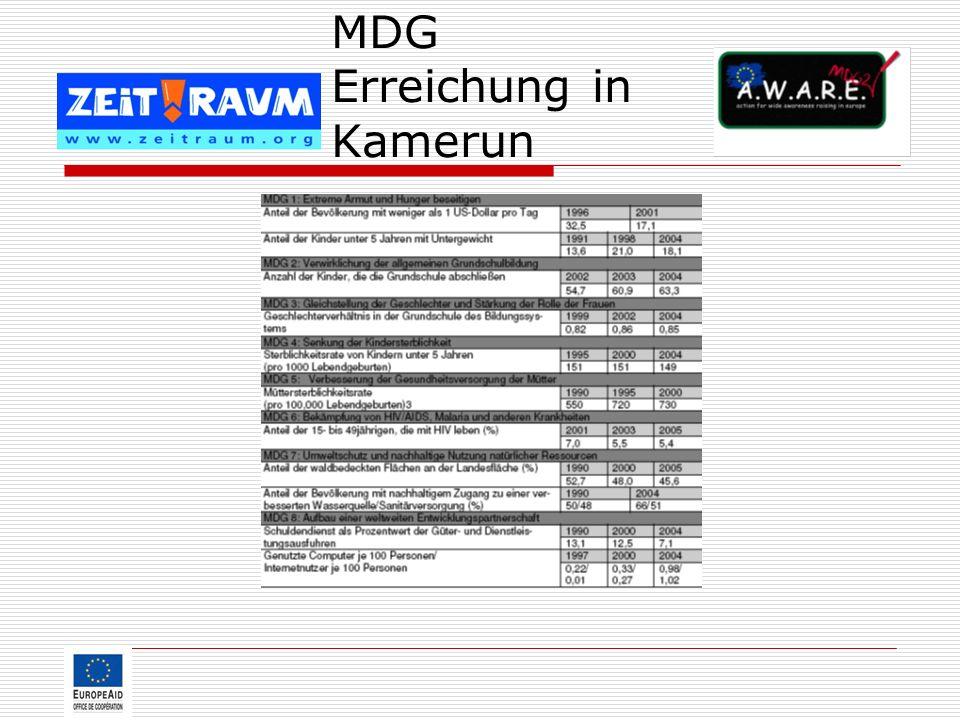 MDG Erreichung in Kamerun