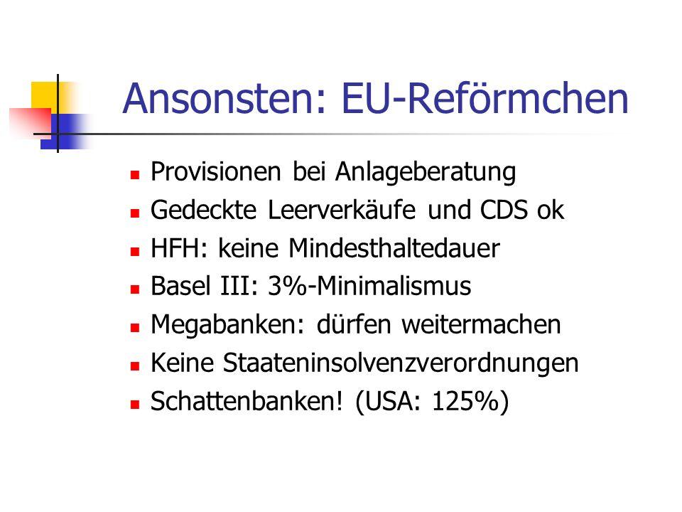 Ansonsten: EU-Reförmchen