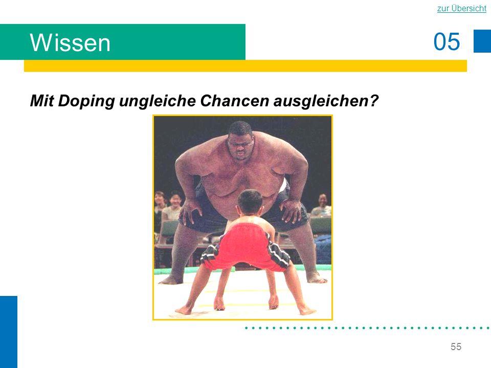 Wissen Mit Doping ungleiche Chancen ausgleichen