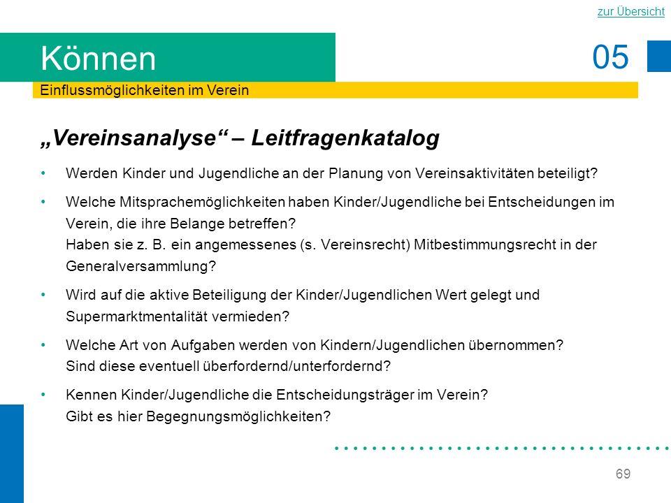 """Können """"Vereinsanalyse – Leitfragenkatalog"""