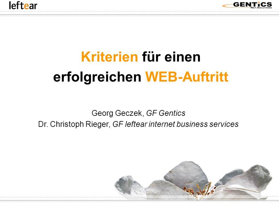 Kriterien für einen erfolgreichen WEB-Auftritt
