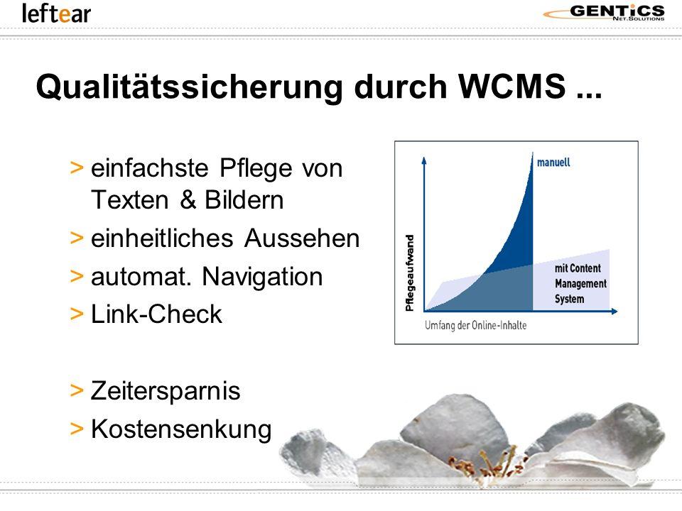 Qualitätssicherung durch WCMS ...