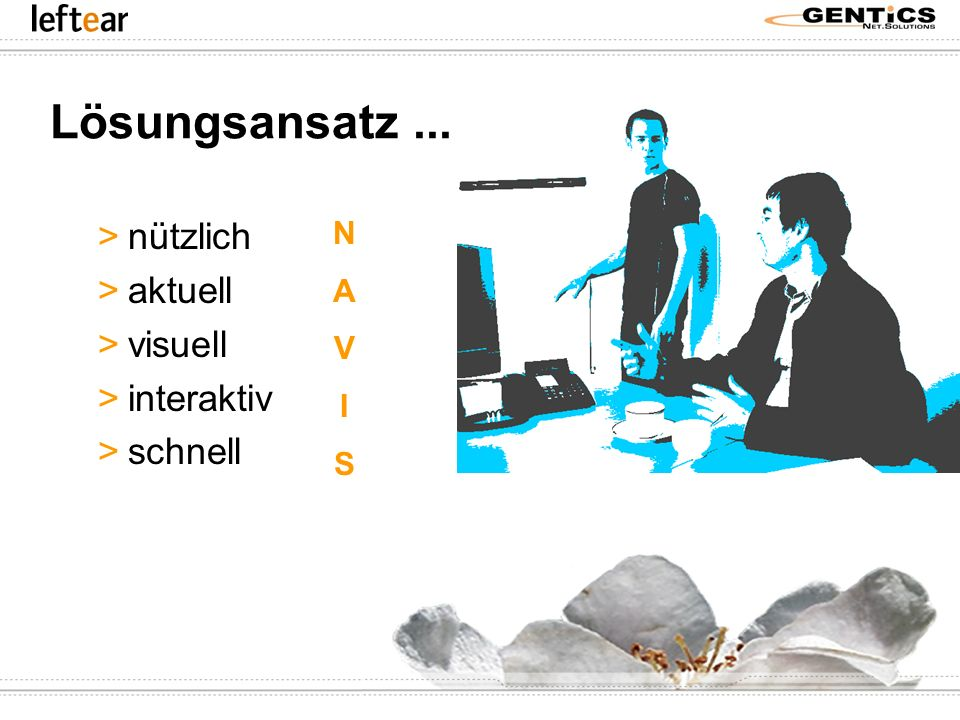 Lösungsansatz ... nützlich aktuell visuell interaktiv schnell N A V I