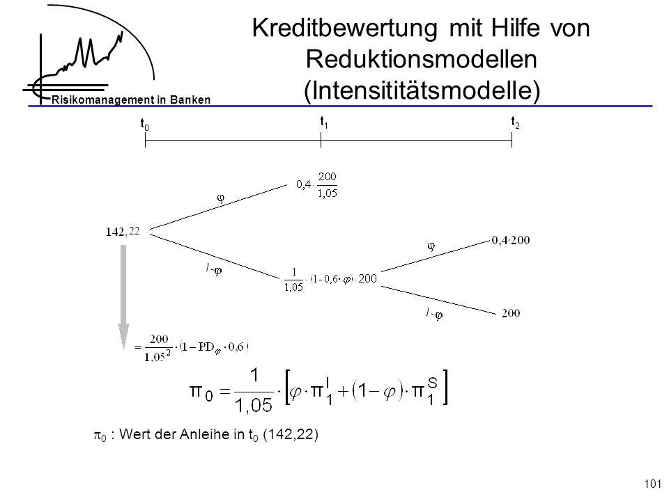 Kreditbewertung mit Hilfe von Reduktionsmodellen (Intensititätsmodelle)