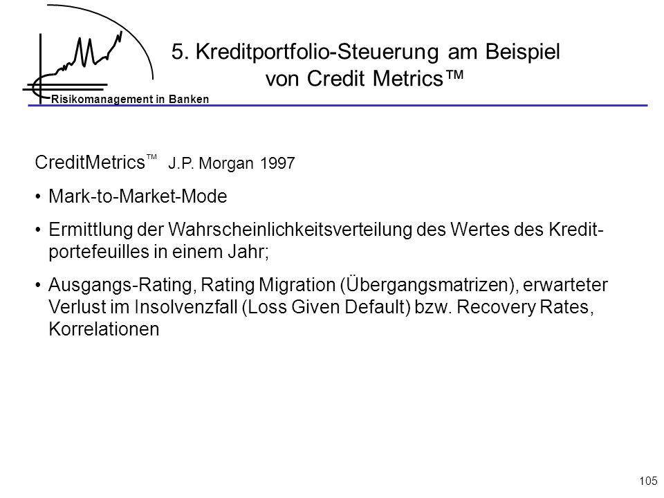 5. Kreditportfolio-Steuerung am Beispiel von Credit Metrics™