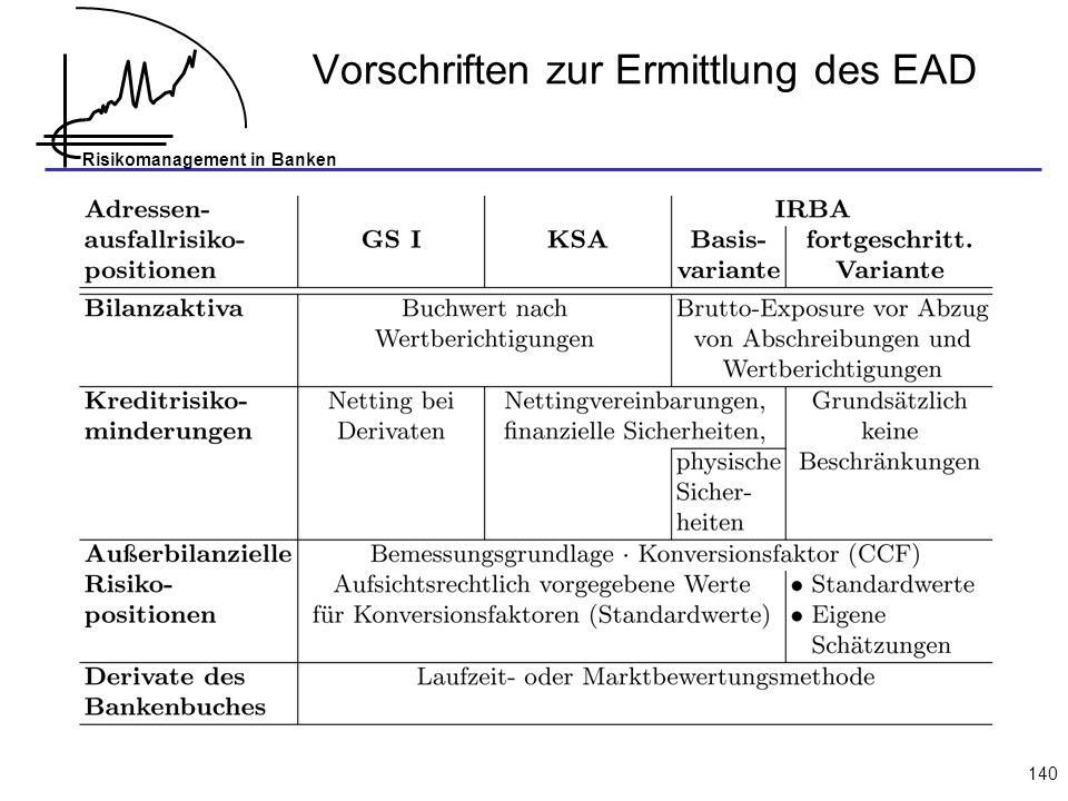 Vorschriften zur Ermittlung des EAD