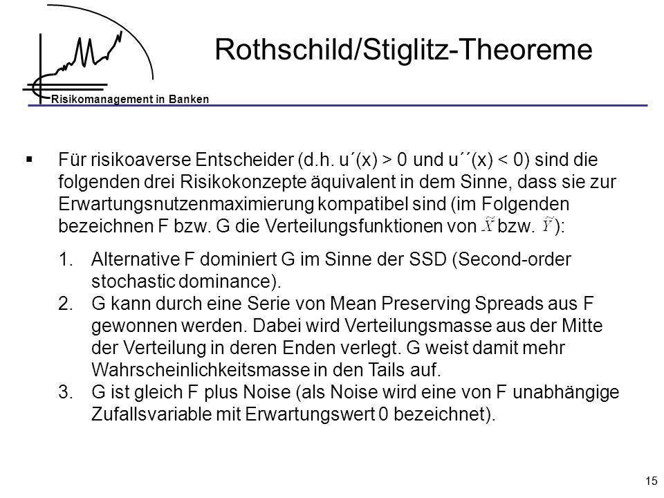 Rothschild/Stiglitz-Theoreme