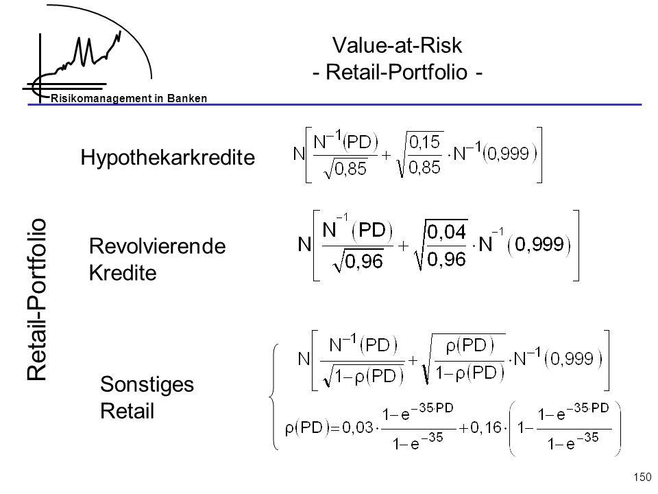 Value-at-Risk - Retail-Portfolio -