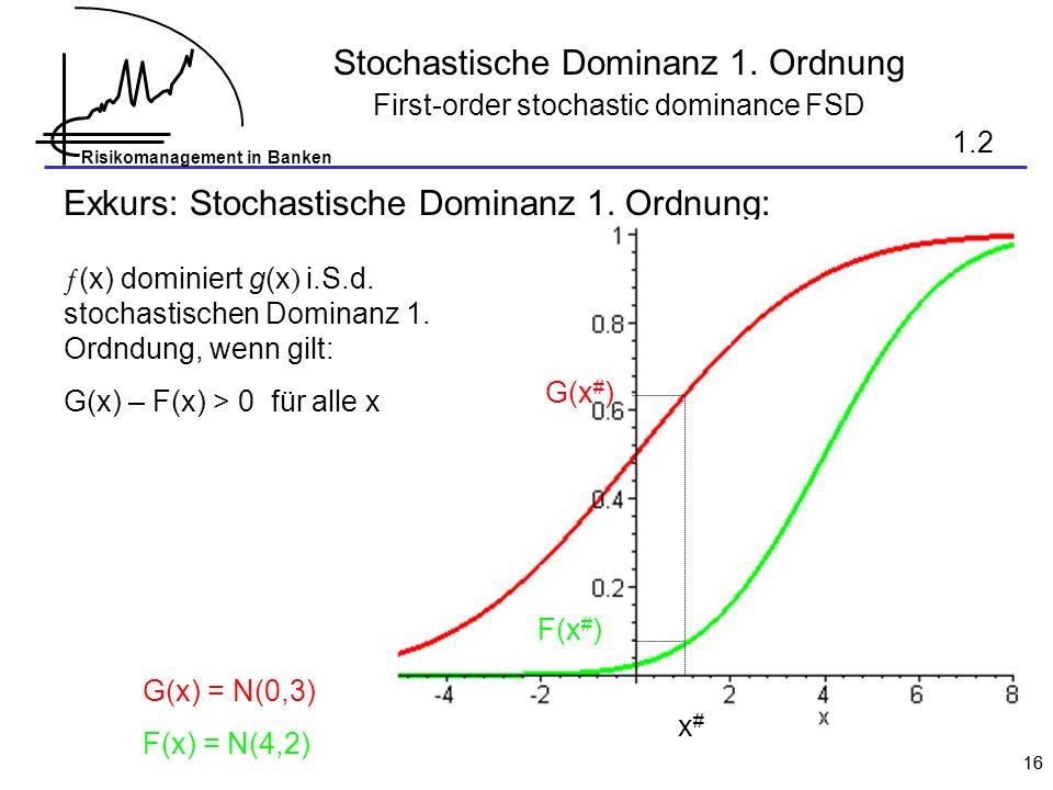 Stochastische Dominanz 1. Ordnung